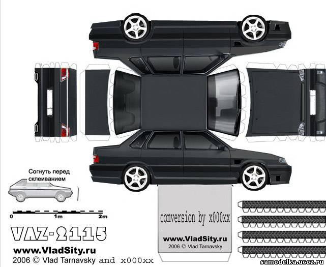 Модель машины своими руками из бумаги фото